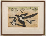 Lithograph of Magpies