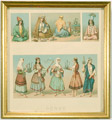 Historic print of Persian dress for women