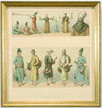 Historic print of Persian dress for men