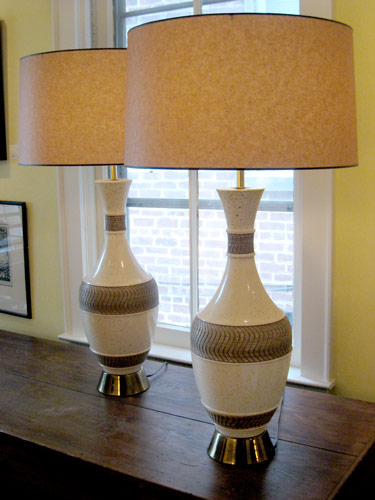 of Ivory and Gold FAIP Lamps