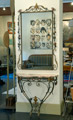 Wrought iron mirror with console